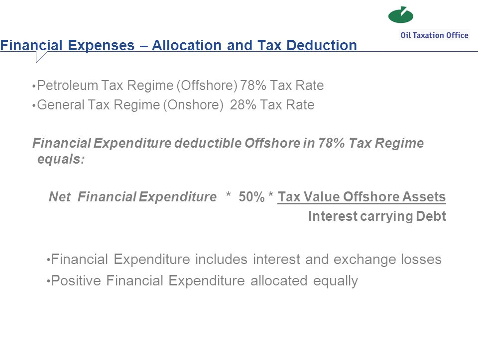 Financial Expenses – Allocation and Tax Deduction