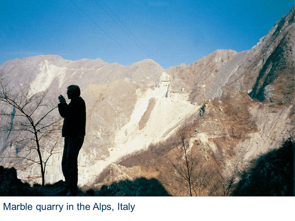 Marble quarry in the Alps, Italy