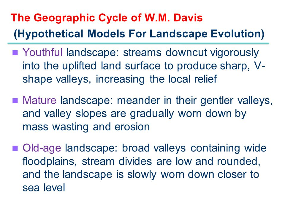 The Geographic Cycle of W. M