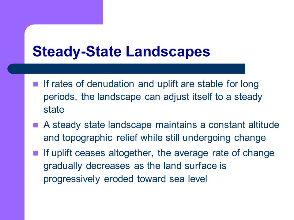 Steady-State Landscapes