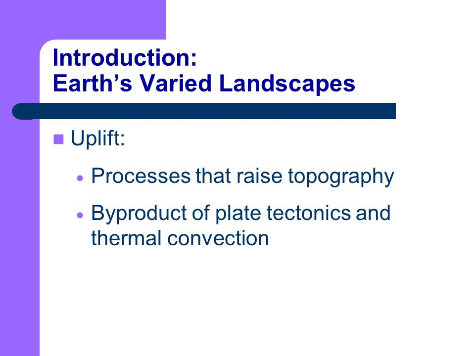 Introduction: Earth's Varied Landscapes