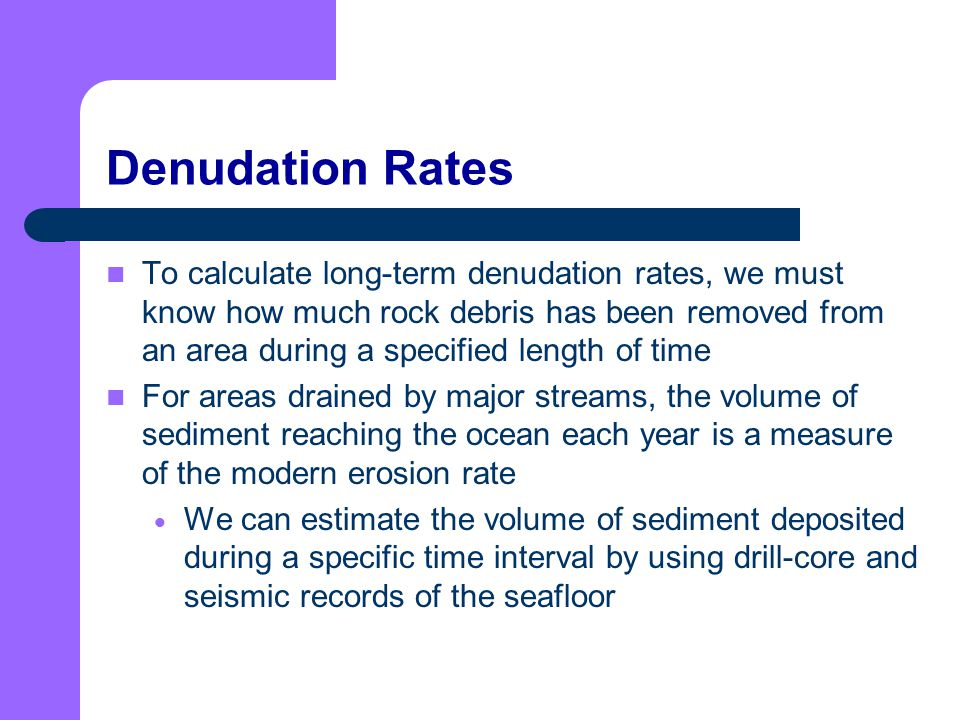 Denudation Rates