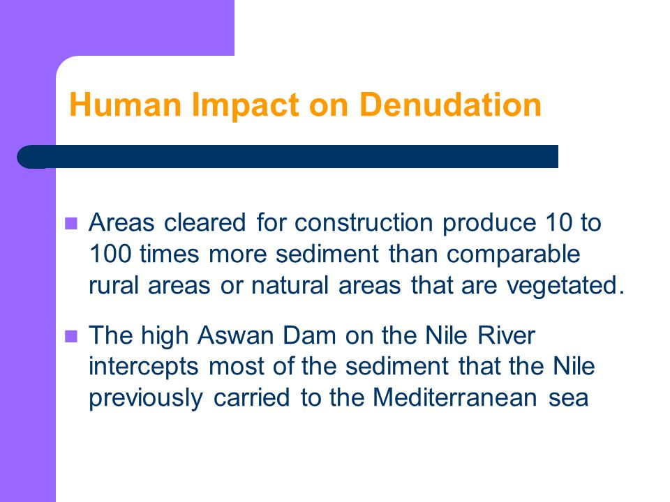 Human Impact on Denudation