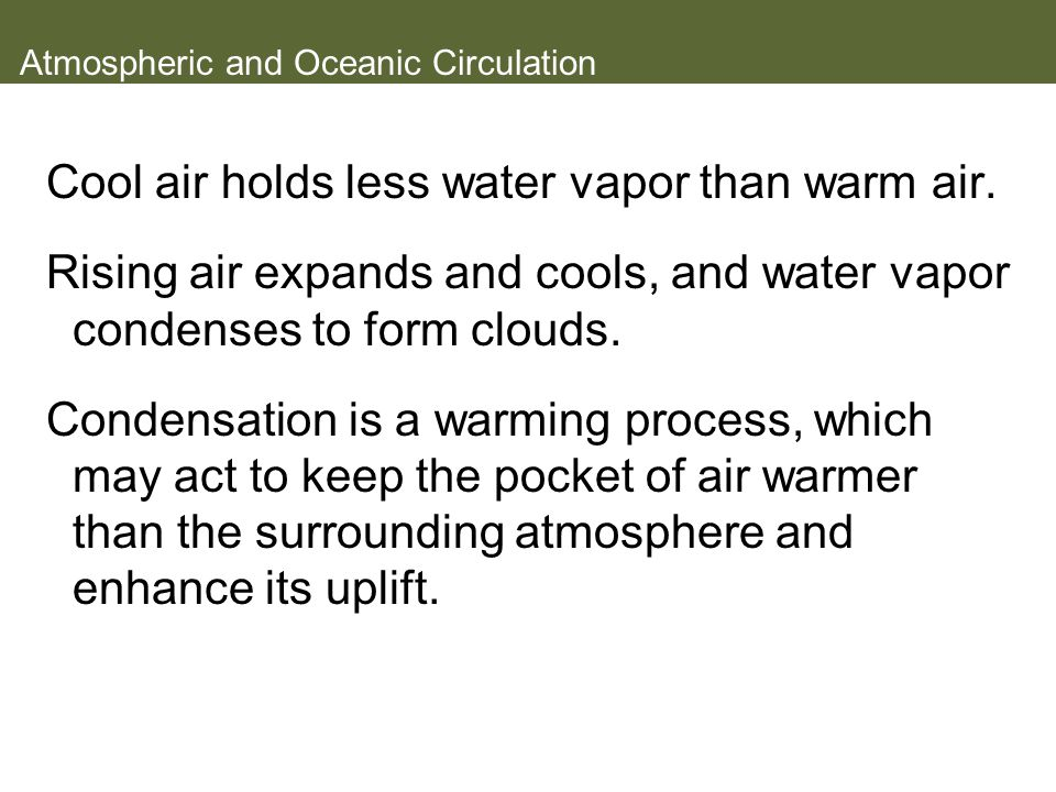 Atmospheric and Oceanic Circulation