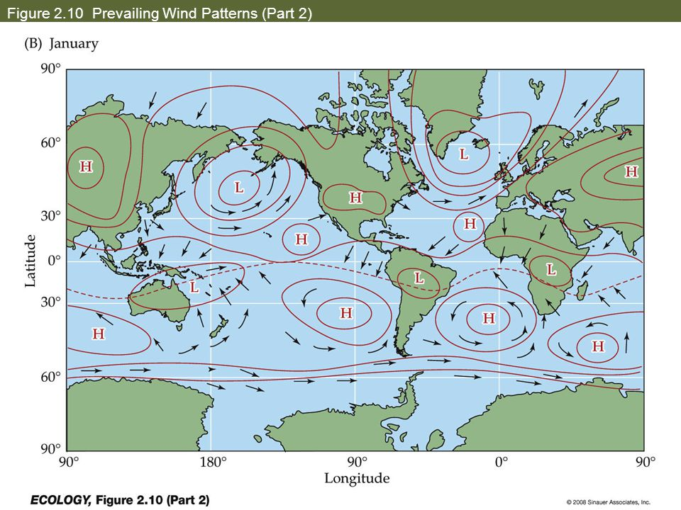 Figure 2.10 Prevailing Wind Patterns (Part 2)