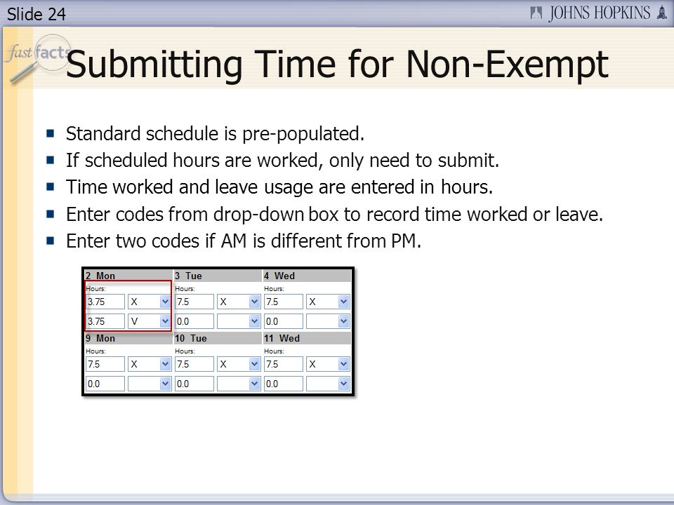 Submitting Time for Non-Exempt