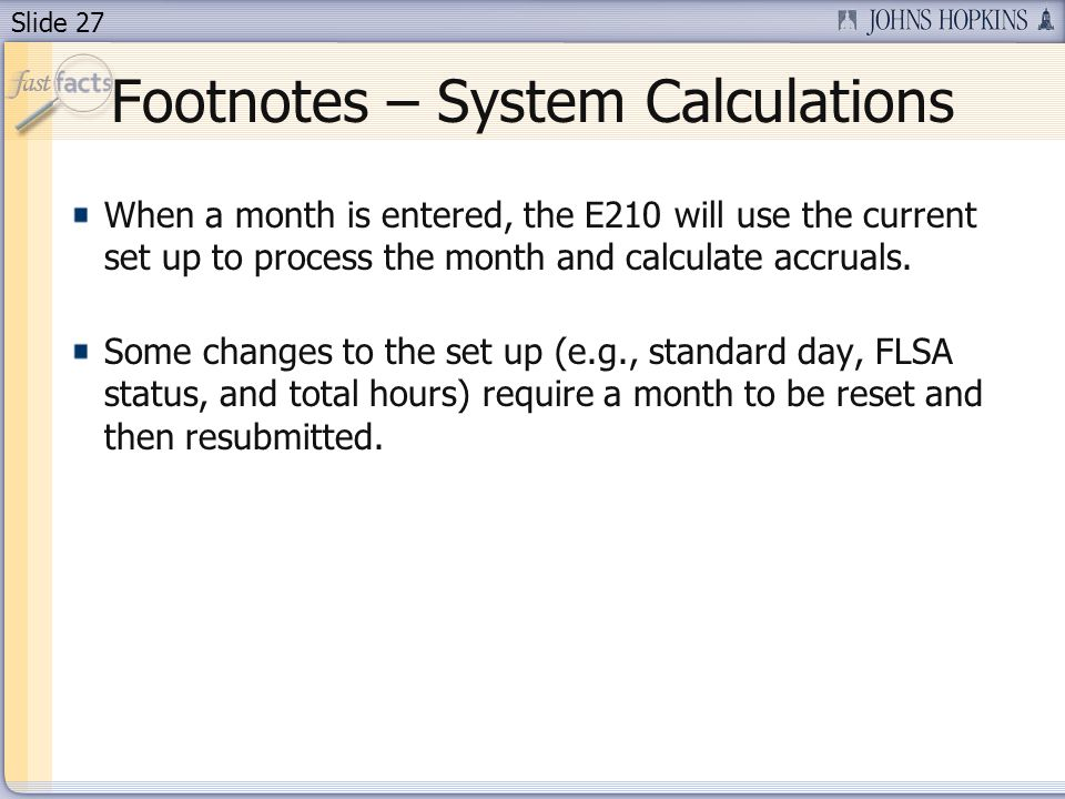 Footnotes – System Calculations