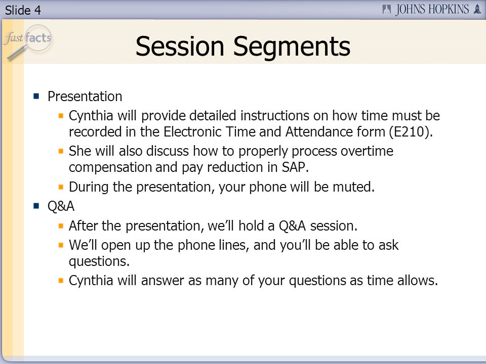 Session Segments Presentation