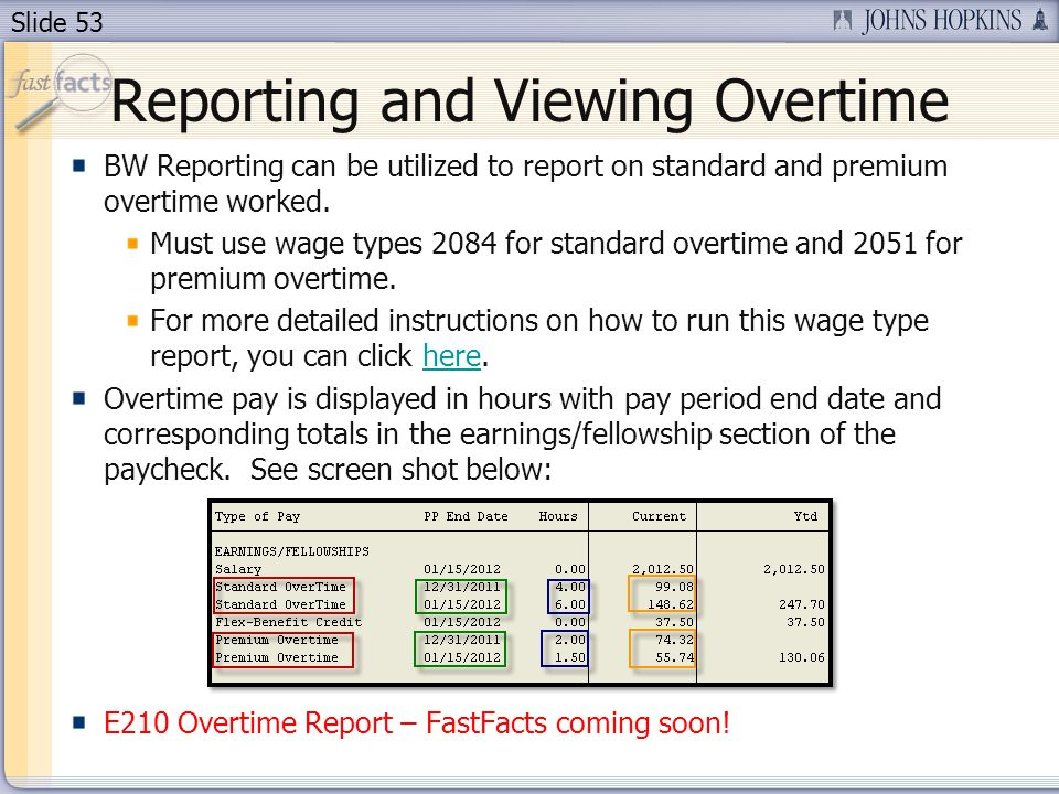 Reporting and Viewing Overtime