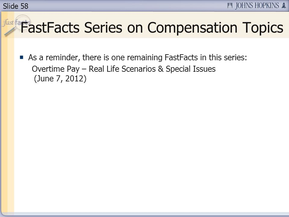 FastFacts Series on Compensation Topics