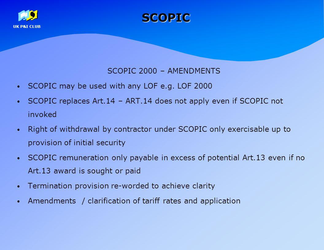SCOPIC SCOPIC 2000 – AMENDMENTS