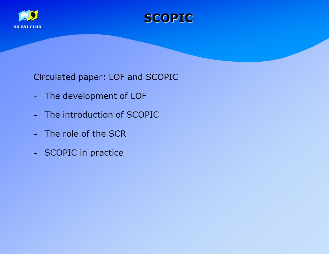 SCOPIC Circulated paper: LOF and SCOPIC The development of LOF