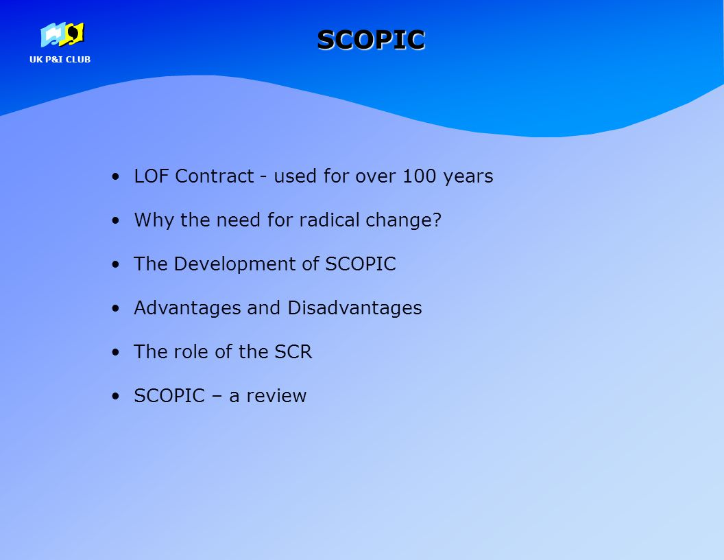 SCOPIC LOF Contract - used for over 100 years