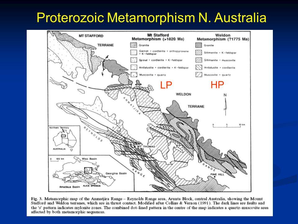 Proterozoic Metamorphism N. Australia