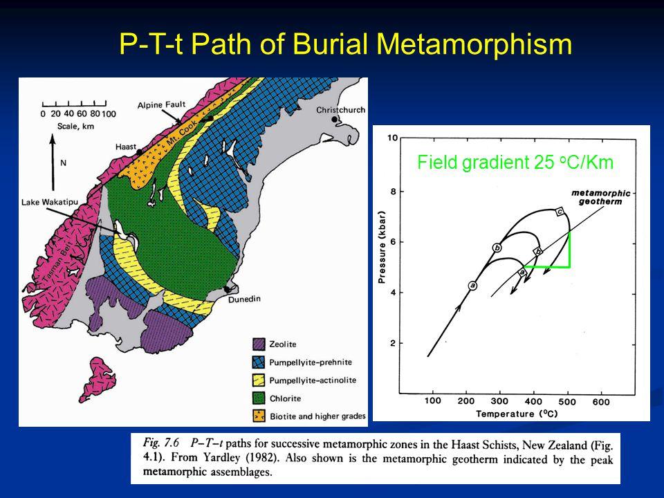 P-T-t Path of Burial Metamorphism