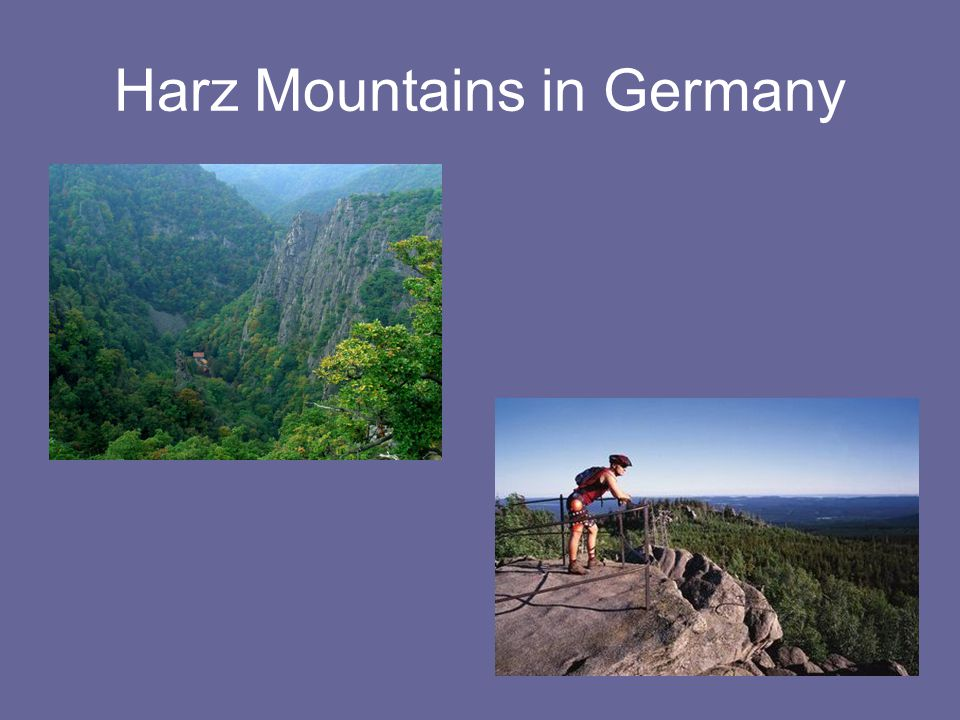 Harz Mountains in Germany