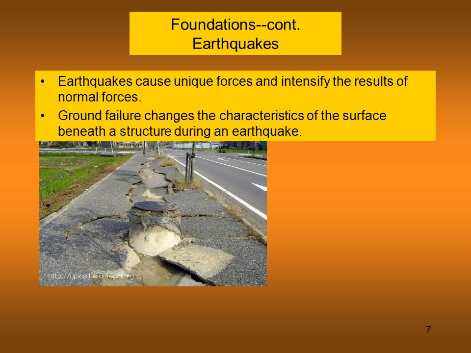 Foundations--cont. Earthquakes