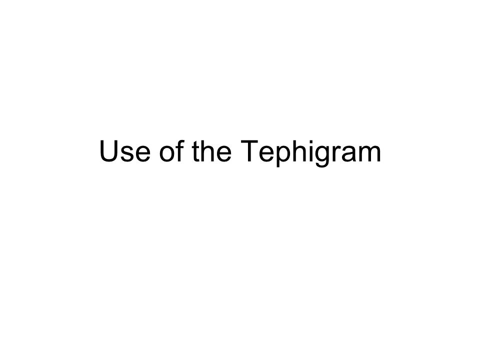 Use of the Tephigram