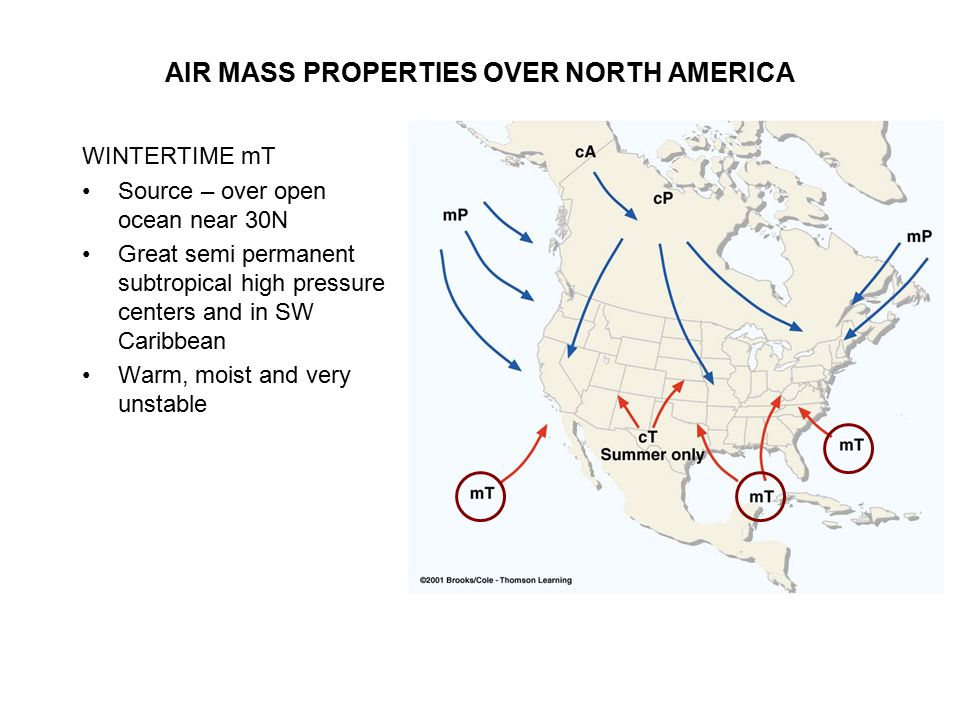 AIR MASS PROPERTIES OVER NORTH AMERICA