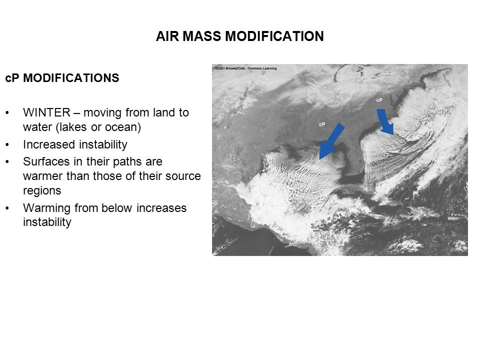 AIR MASS MODIFICATION cP MODIFICATIONS