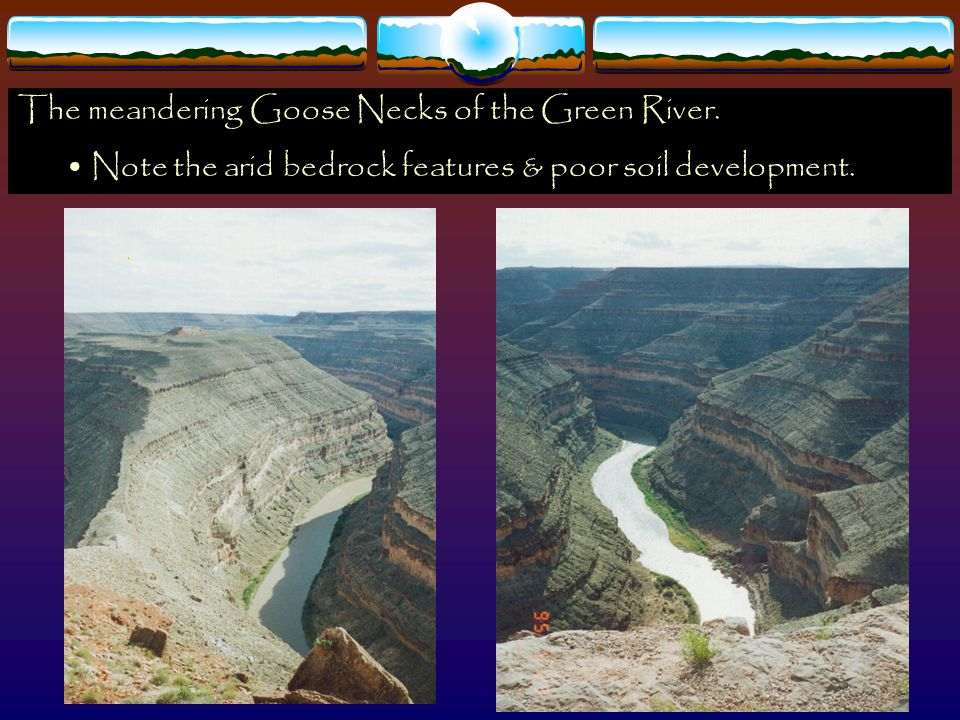 The meandering Goose Necks of the Green River.