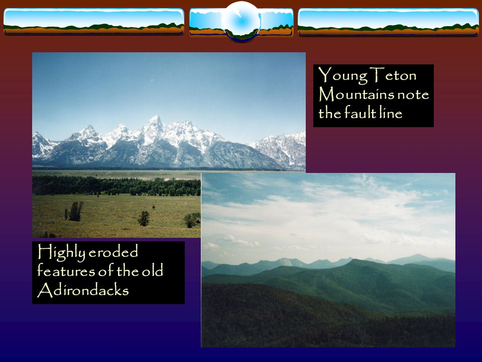 Young Teton Mountains note the fault line
