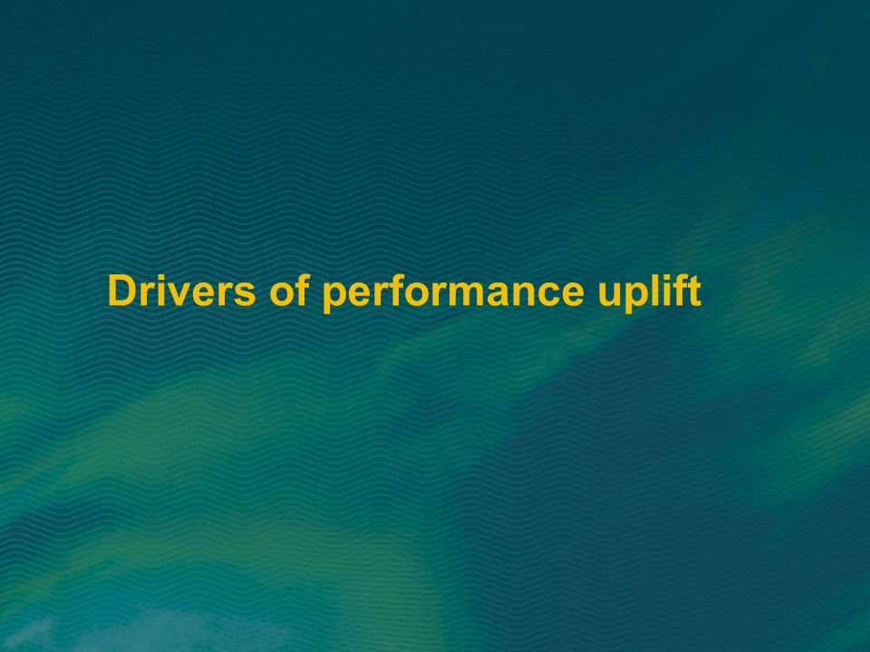 Drivers of performance uplift