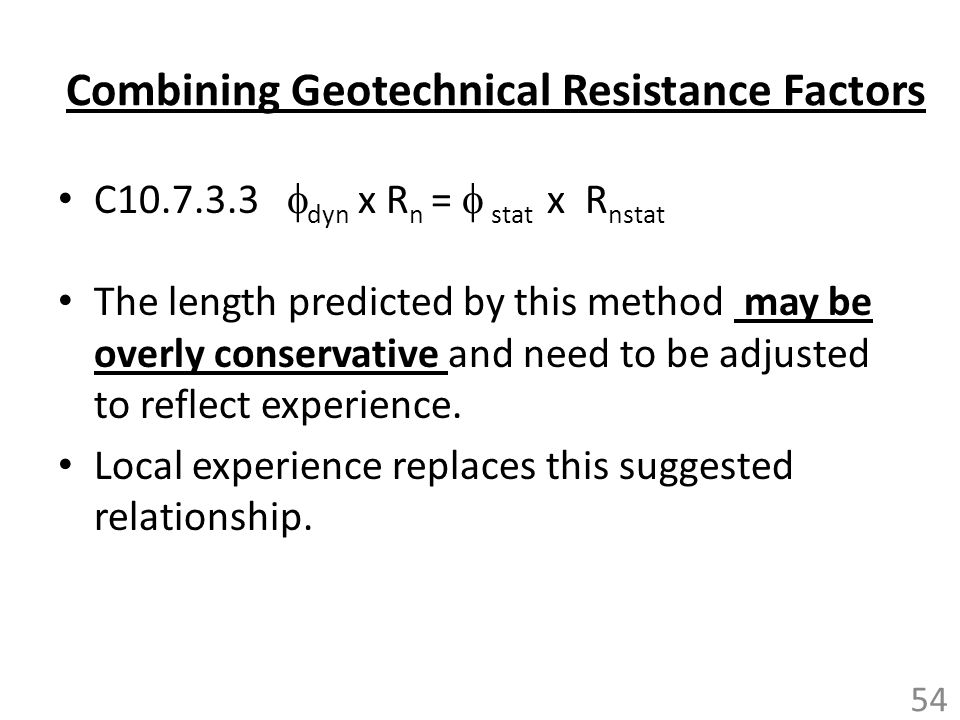 Combining Geotechnical Resistance Factors