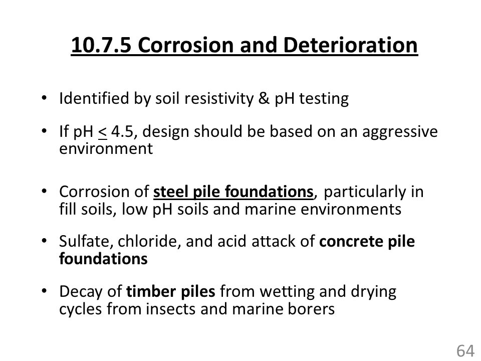 10.7.5 Corrosion and Deterioration