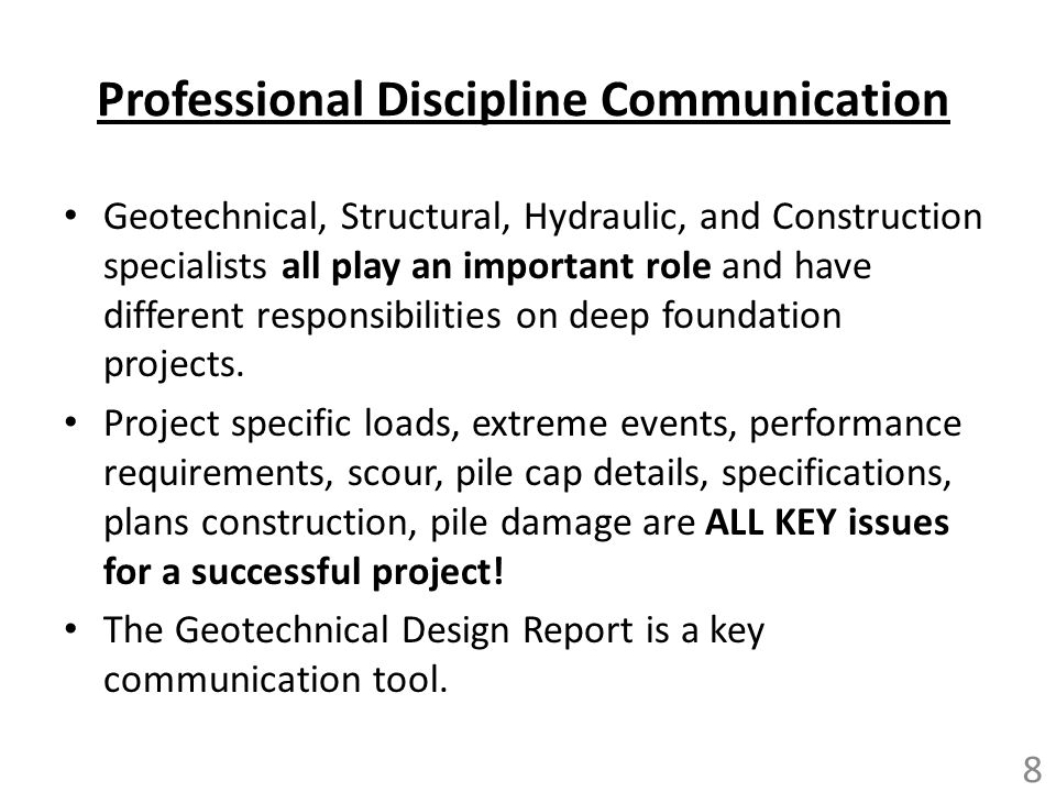 Professional Discipline Communication