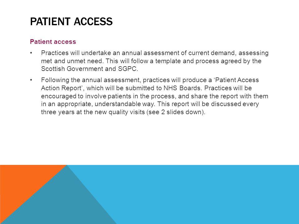 Patient access Patient access