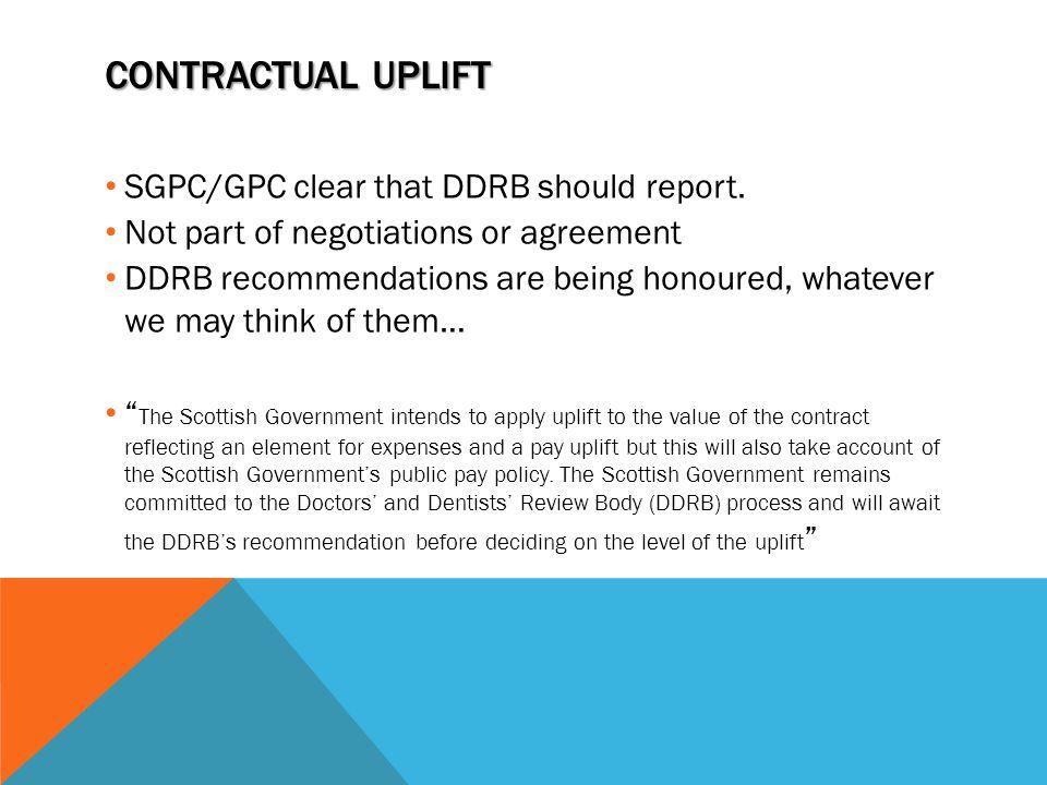 Contractual uplift SGPC/GPC clear that DDRB should report.