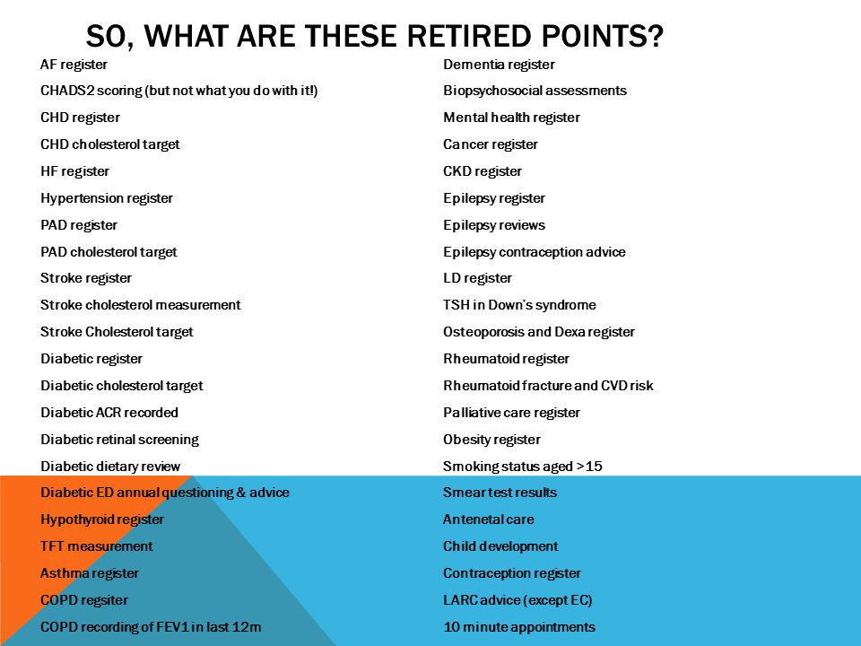 So, what are these retired points