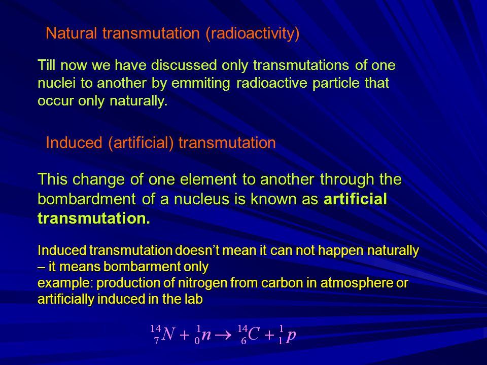 Natural transmutation (radioactivity)