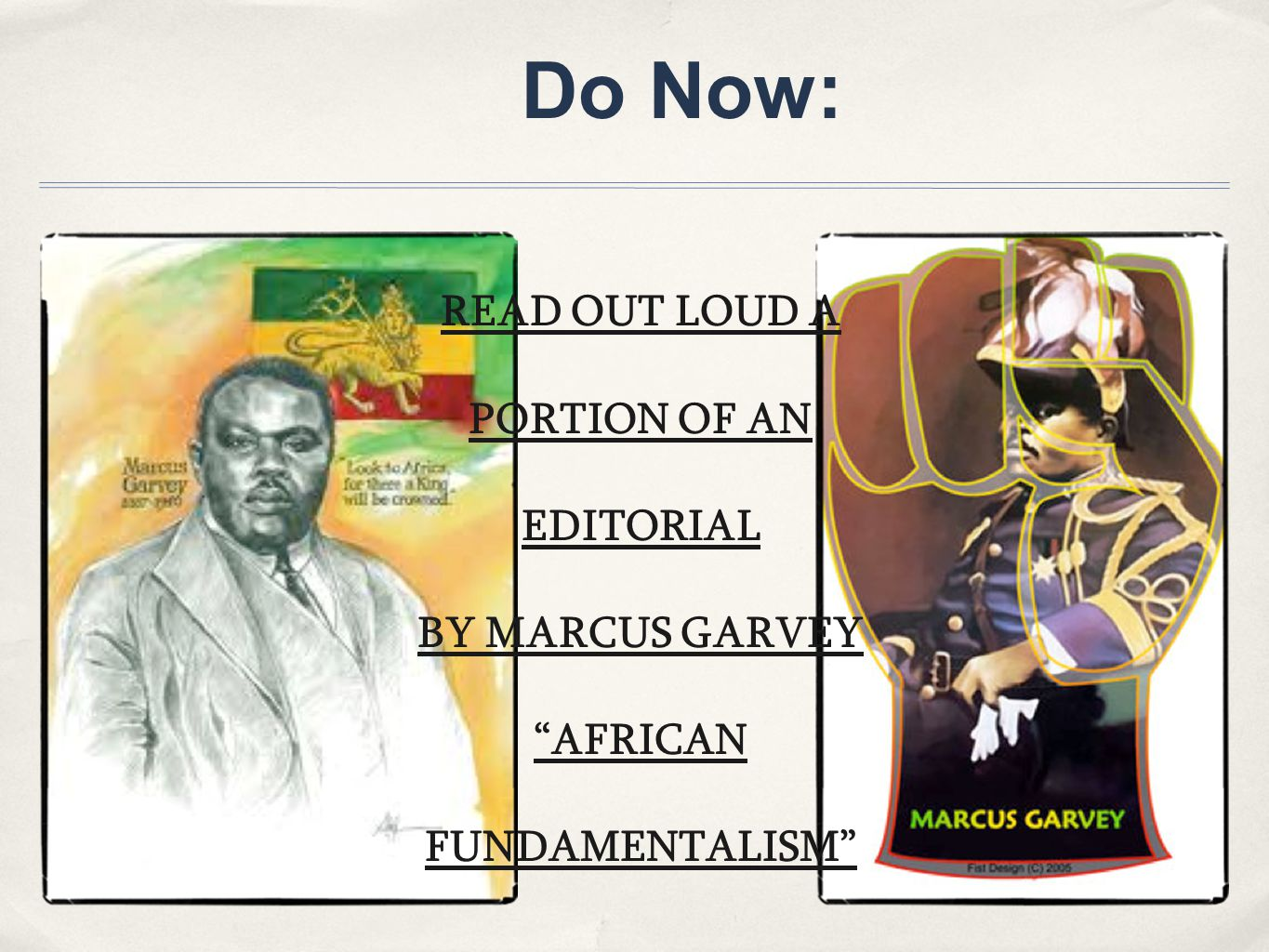 READ OUT LOUD A PORTION OF AN EDITORIAL AFRICAN FUNDAMENTALISM