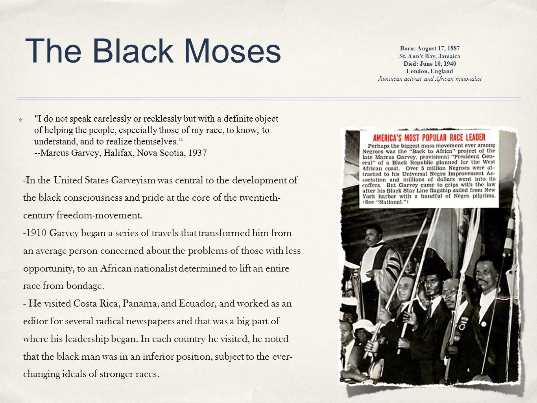 Jamaican activist and African nationalist