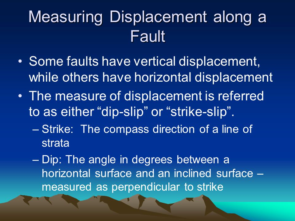 Measuring Displacement along a Fault