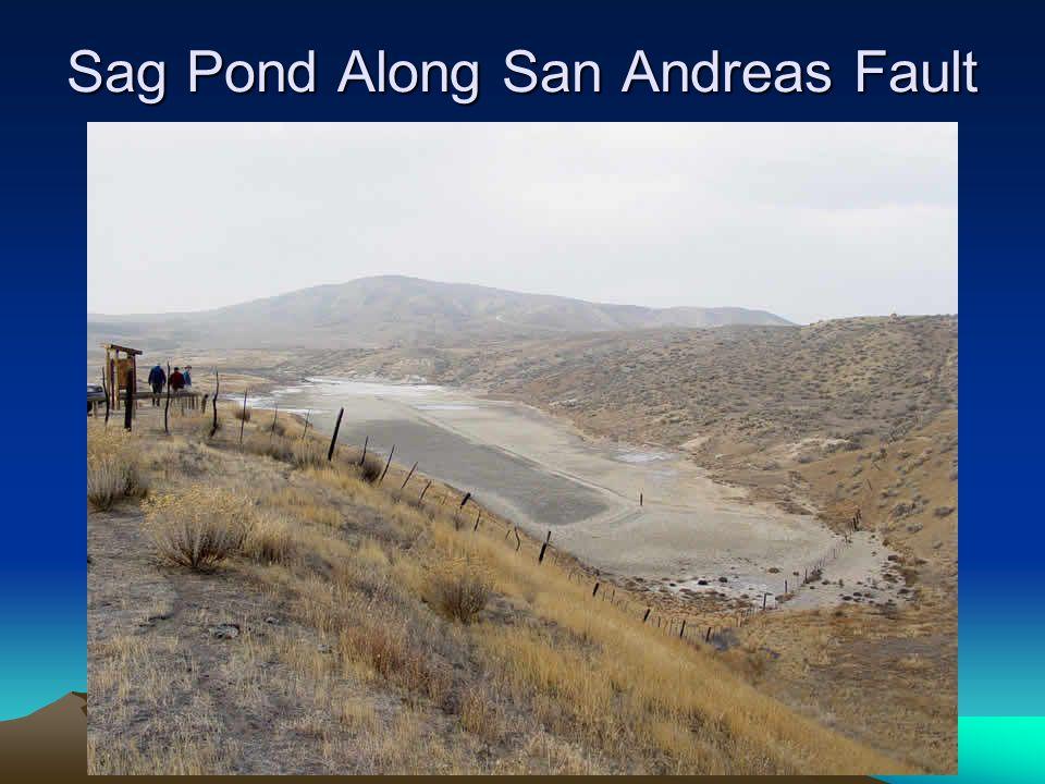 Sag Pond Along San Andreas Fault