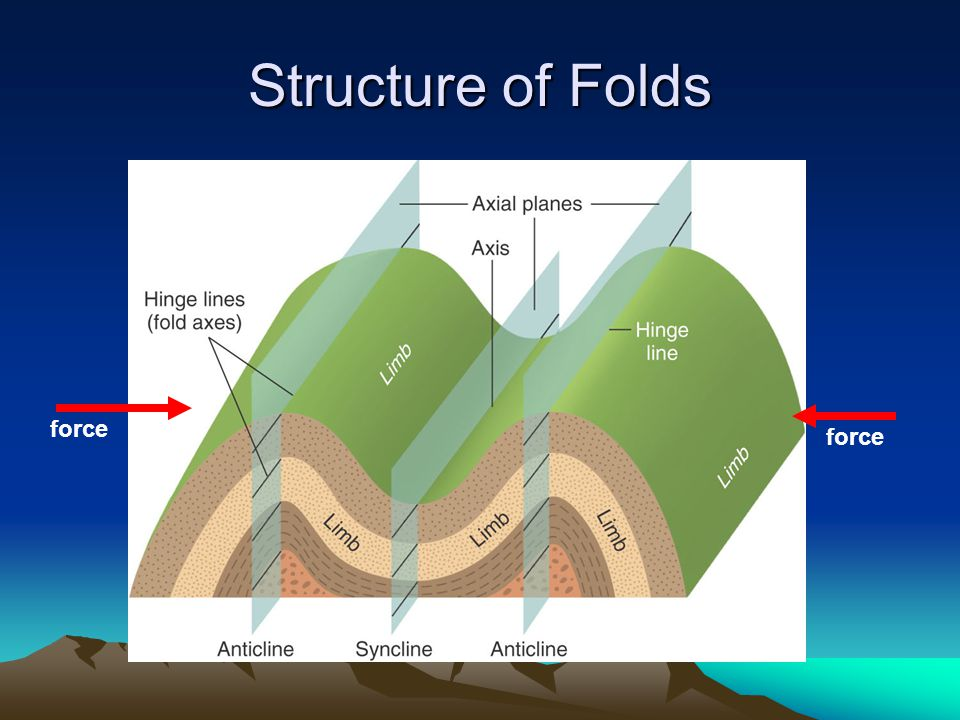 Structure of Folds force force