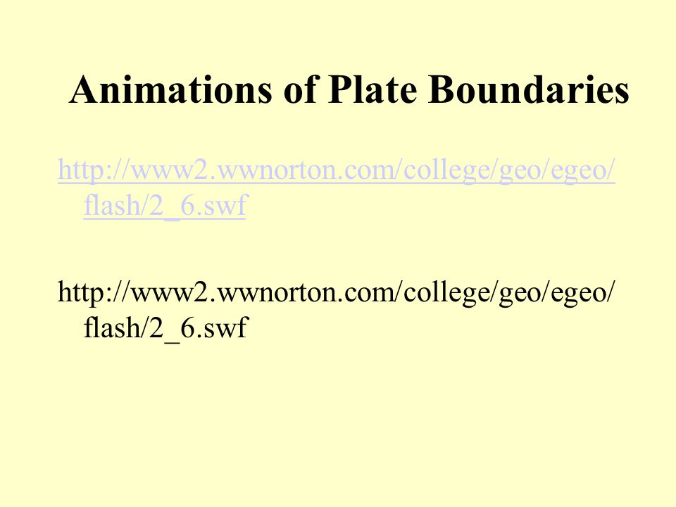 Animations of Plate Boundaries