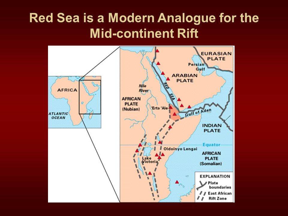 Red Sea is a Modern Analogue for the Mid-continent Rift