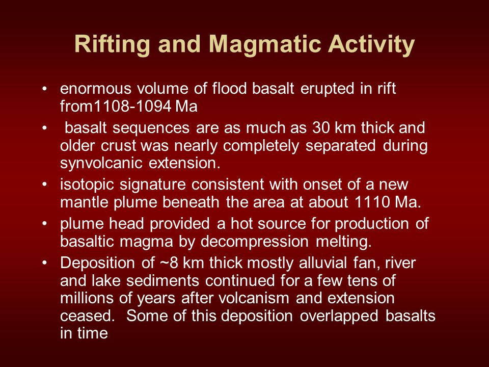 Rifting and Magmatic Activity