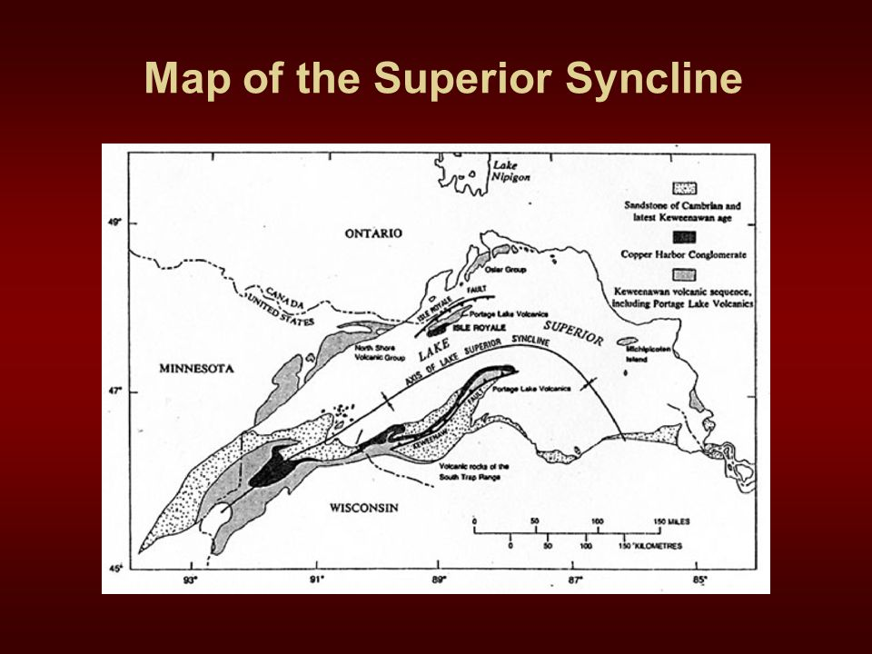 Map of the Superior Syncline