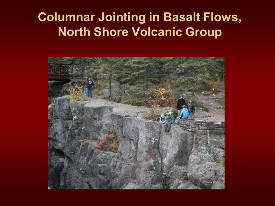 Columnar Jointing in Basalt Flows, North Shore Volcanic Group