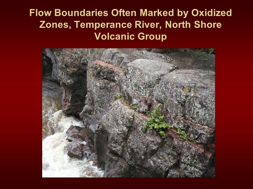 Flow Boundaries Often Marked by Oxidized Zones, Temperance River, North Shore Volcanic Group
