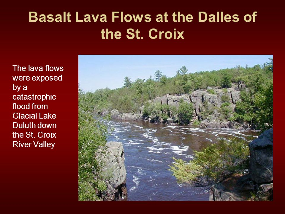Basalt Lava Flows at the Dalles of the St. Croix