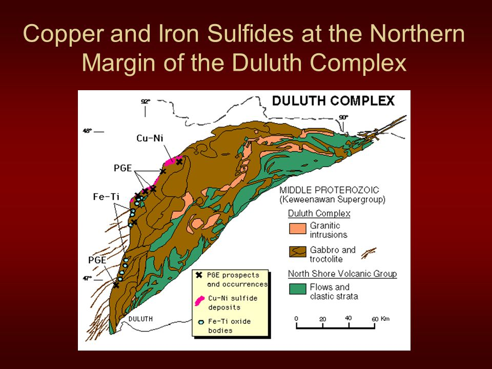 Copper and Iron Sulfides at the Northern Margin of the Duluth Complex