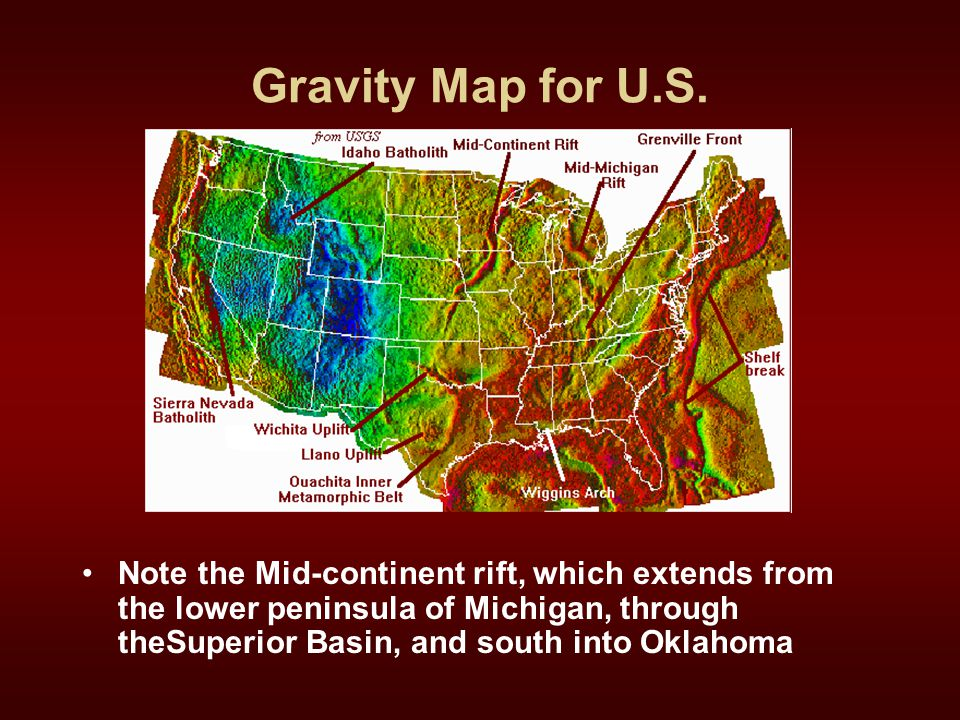 Gravity Map for U.S.