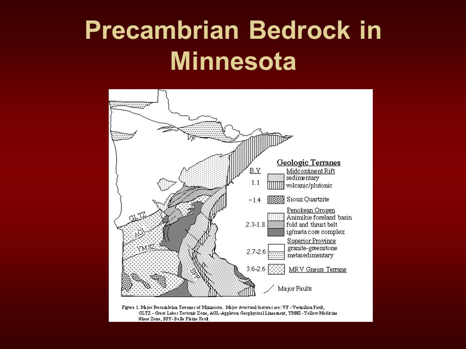 Precambrian Bedrock in Minnesota