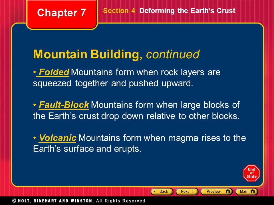Mountain Building, continued